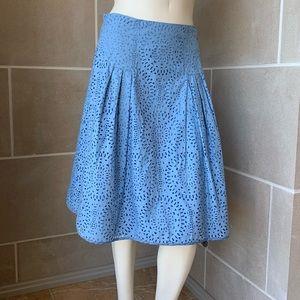 Valentino Cotton Cutout Skirt